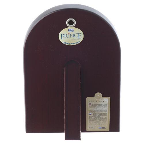 Icône Christ Pantocrator 14x10 cm argent 925 finitions dorées 2