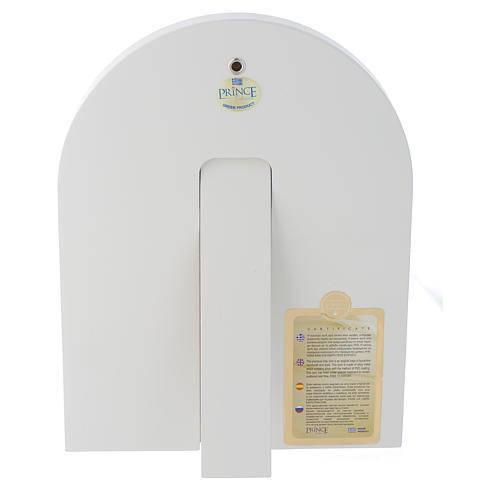 Icona argento Cristo libro aperto 25x20 cm finiture dorate 3