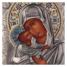 Icona smaltata Madonna di Vladimir con riza 25x20 cm Polonia s2