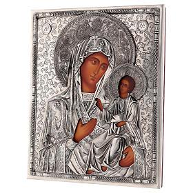 Icône Vierge d'Ivron avec riza peinte 25x20 cm Pologne s3