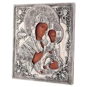 Icona Madonna di Ivron riza lucida Polonia 30x25 cm dipinta s3