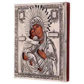 Icona Vergine di Vladmir dipinta con riza 16x12 cm Polonia s3