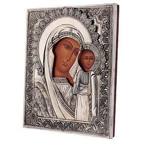 Icona Vergine di Kazan dipinta con riza 20x16 cm Polonia s3