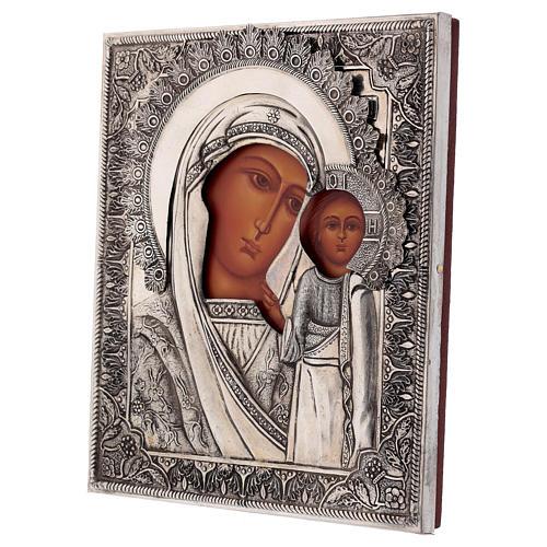 Icona Vergine di Kazan dipinta con riza 20x16 cm Polonia 3