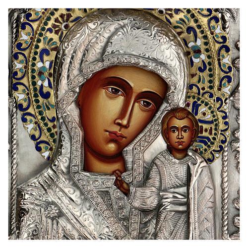 Madonna di Kazan riza icona dipinta polacca 30X20 cm 2