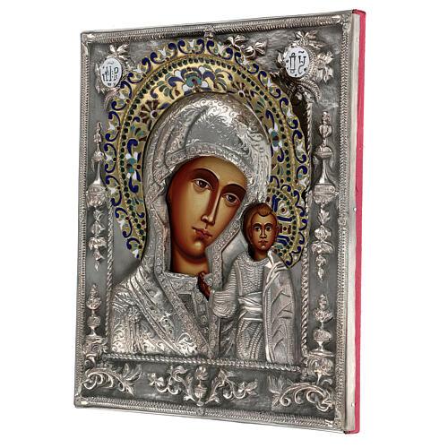 Madonna di Kazan riza icona dipinta polacca 30X20 cm 3