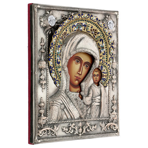 Madonna di Kazan riza icona dipinta polacca 30X20 cm 4