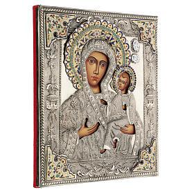 Madonna Odigitria icona dipinta riza polacca 30X20 cm s4
