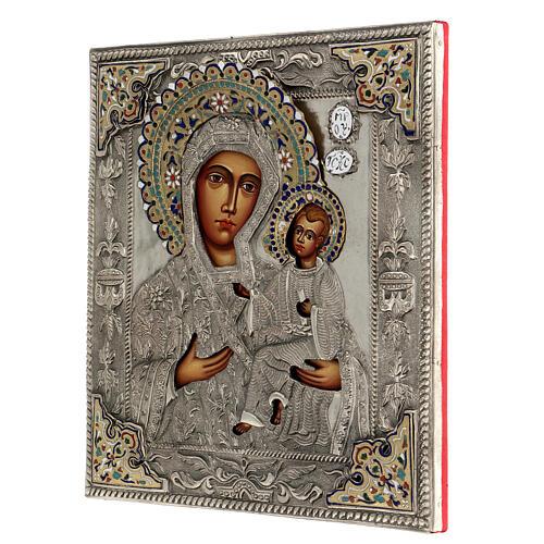 Madonna Odigitria icona dipinta riza polacca 30X20 cm 3