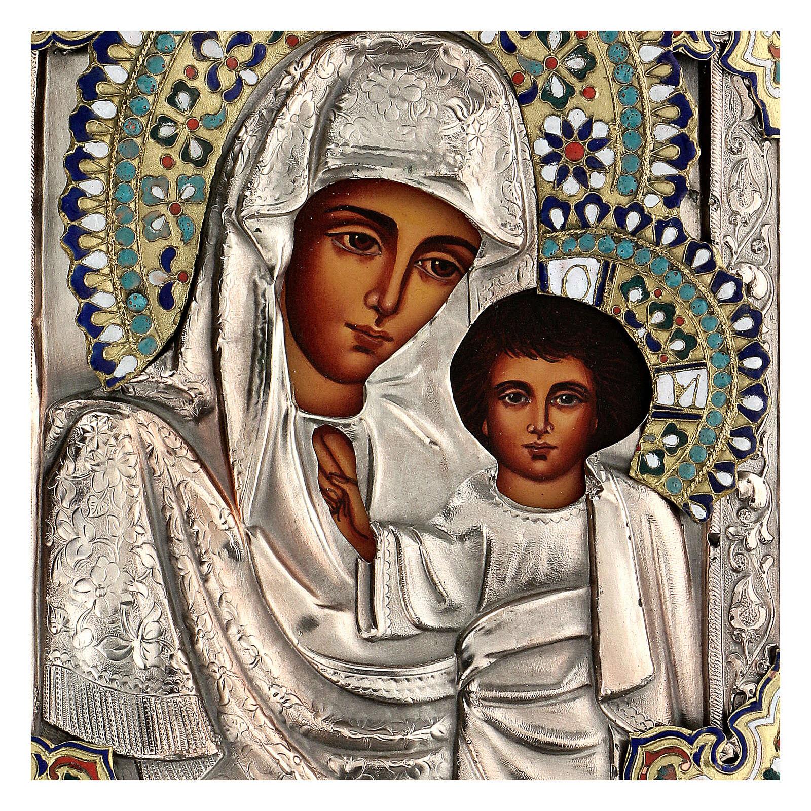 Madonna Kazan riza 25X20 cm dipinta Polonia 4
