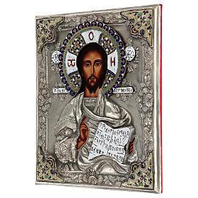 Cristo Pantocratore riza 30X20 cm icona Polonia s3