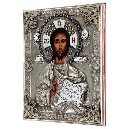 Cristo Pantocratore riza 30X20 cm icona Polonia 3