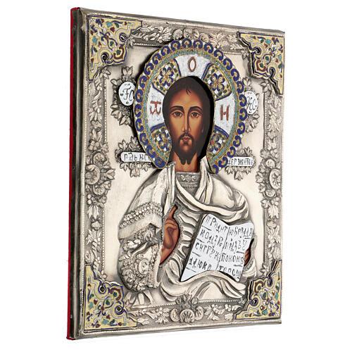 Cristo Pantocratore riza 30X20 cm icona Polonia 4