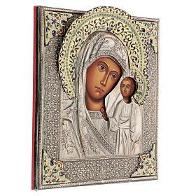 Madonna di Kazan icona riza 30X20 cm dipinta Polonia s4