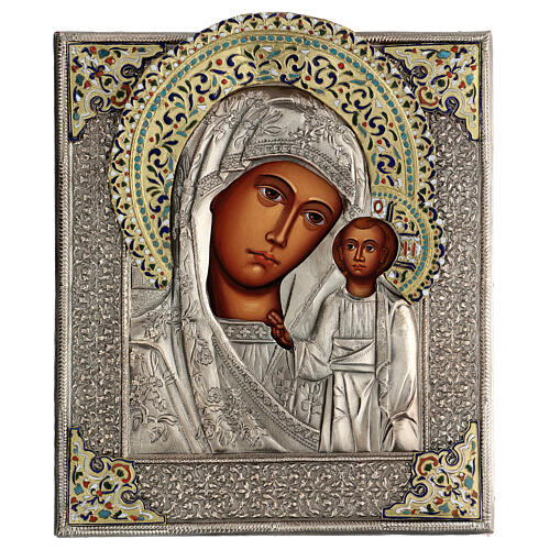 Madonna di Kazan icona riza 30X20 cm dipinta Polonia 1