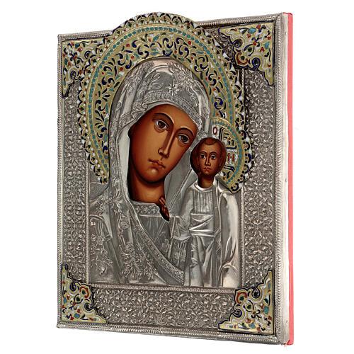 Madonna di Kazan icona riza 30X20 cm dipinta Polonia 3