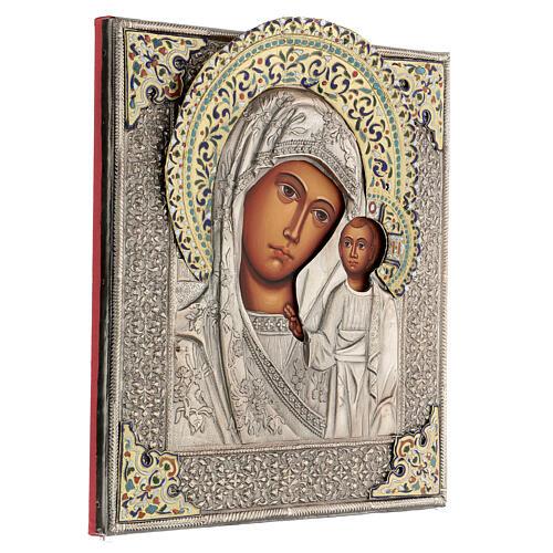Madonna di Kazan icona riza 30X20 cm dipinta Polonia 4