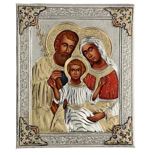 Sacra famiglia riza icona dipinta polacca 30X20 cm 1