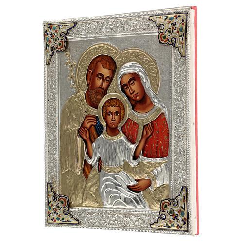 Sacra famiglia riza icona dipinta polacca 30X20 cm 3