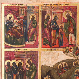 Antique icon 'The 12 great feasts of the liturgical year&#0 s3