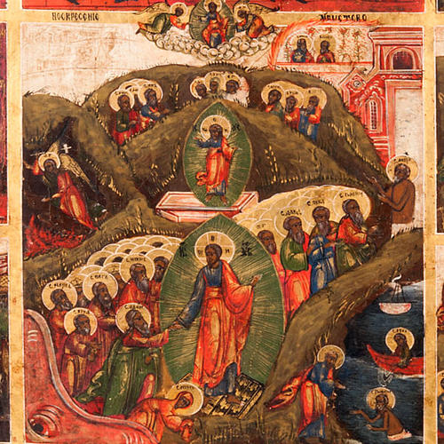 Antique icon 'The 12 great feasts of the liturgical year&#0 2