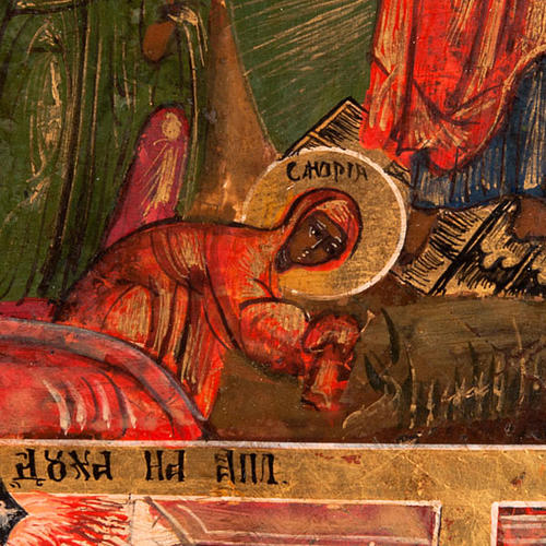Antique icon 'The 12 great feasts of the liturgical year&#0 9