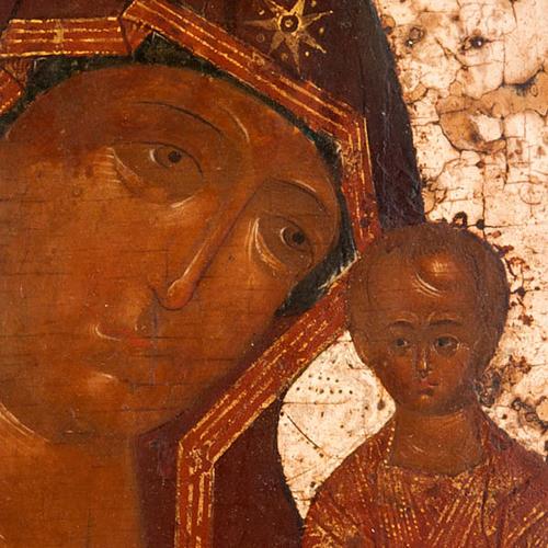 Antique icon 'Our Lady of Kazan' 3