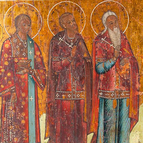 Icona antica russa in quattro parti 2