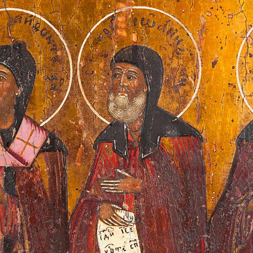 Icona antica russa in quattro parti 6