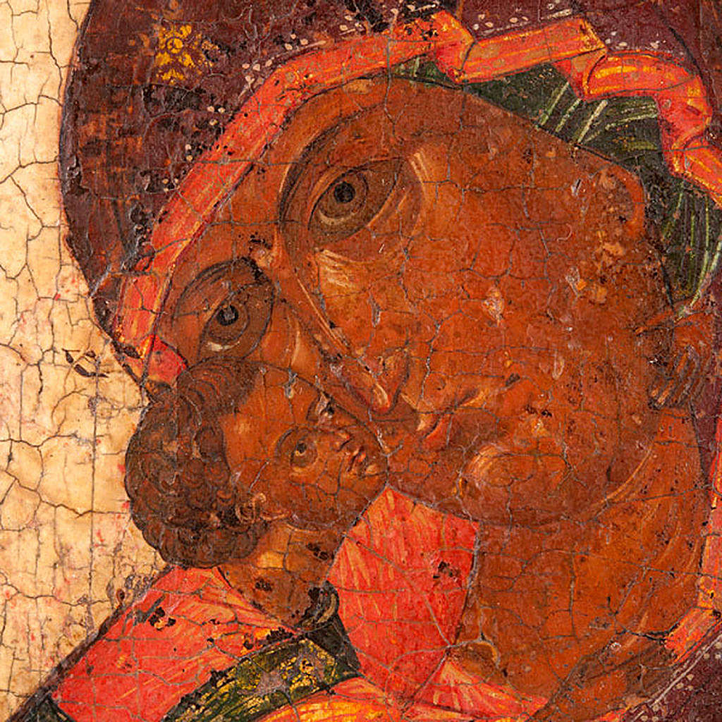 Icona antica Madre di Dio di Vladimir 4