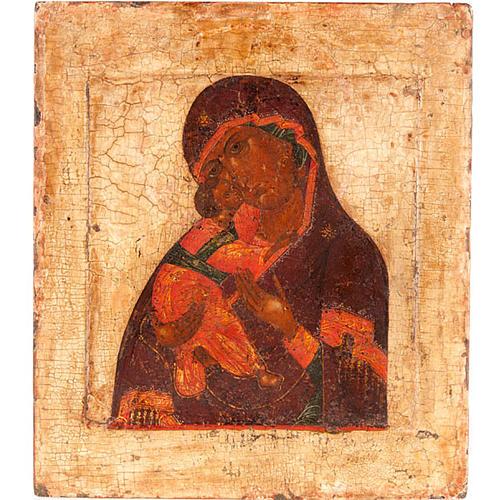 Icona antica Madre di Dio di Vladimir 1