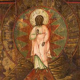 Icona russa antica Trasfigurazione sul Monte Tabor s2