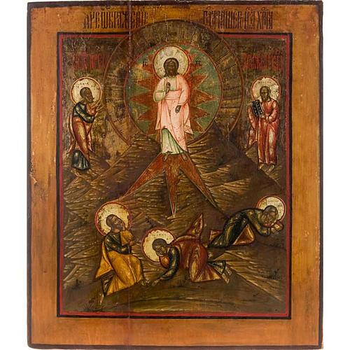 Icona russa antica Trasfigurazione sul Monte Tabor 1