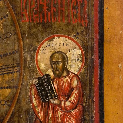 Icona russa antica Trasfigurazione sul Monte Tabor 5