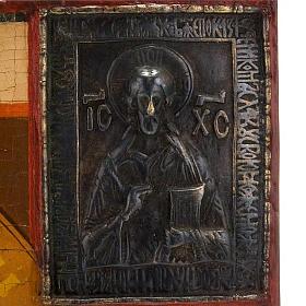 Icona russa antica Madre di Dio di Kazan s2
