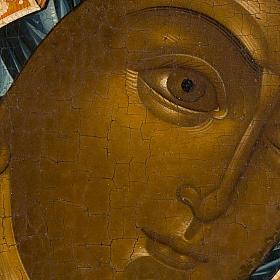 Icona russa antica Madre di Dio di Kazan s4