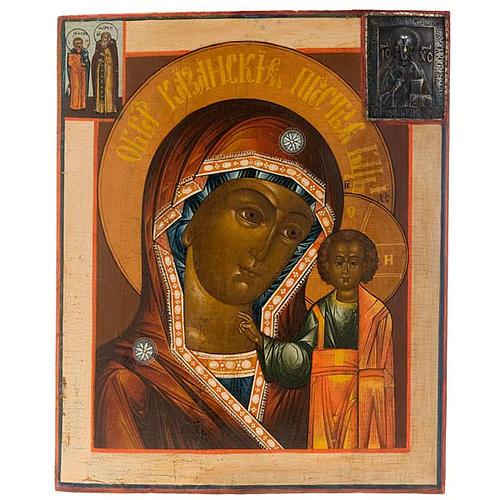 Icona russa antica Madre di Dio di Kazan 1