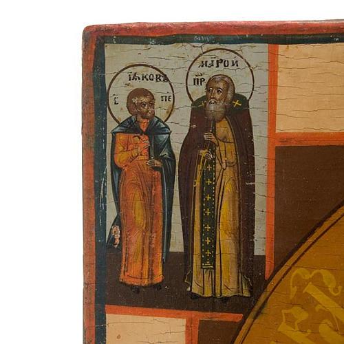 Icona russa antica Madre di Dio di Kazan 3
