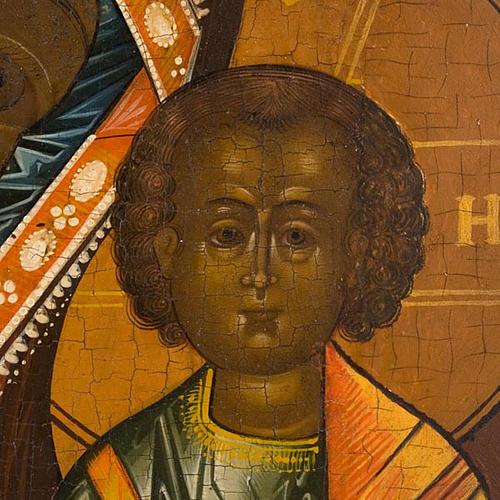 Icona russa antica Madre di Dio di Kazan 5