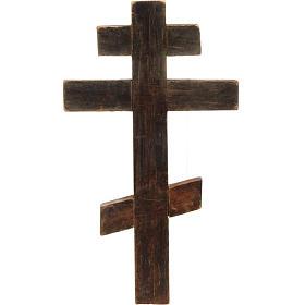 Crocefisso ortodosso antico XIX secolo s3