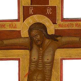 Crocefisso ortodosso antico XIX secolo s8