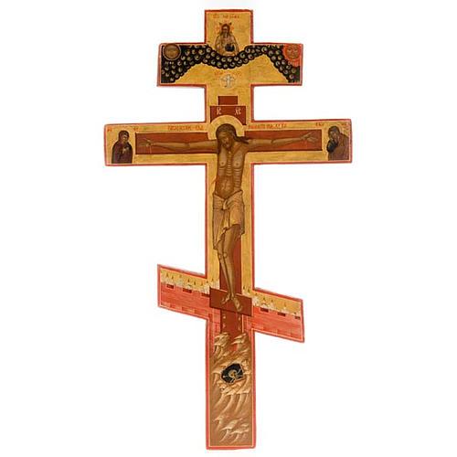 Crocefisso ortodosso antico XIX secolo 1