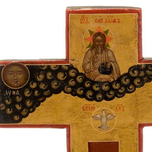 Crocefisso ortodosso antico XIX secolo 2