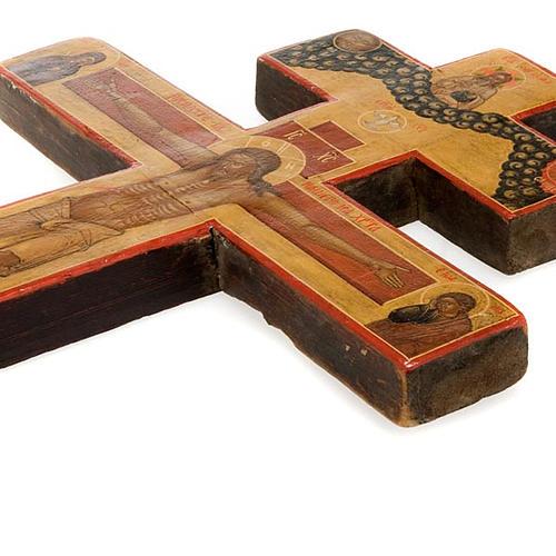 Crocefisso ortodosso antico XIX secolo 5