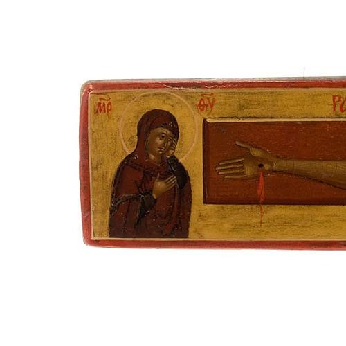 Crocefisso ortodosso antico XIX secolo 7
