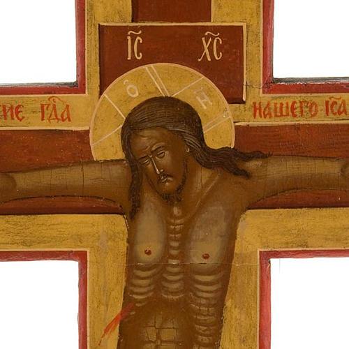 Crocefisso ortodosso antico XIX secolo 8