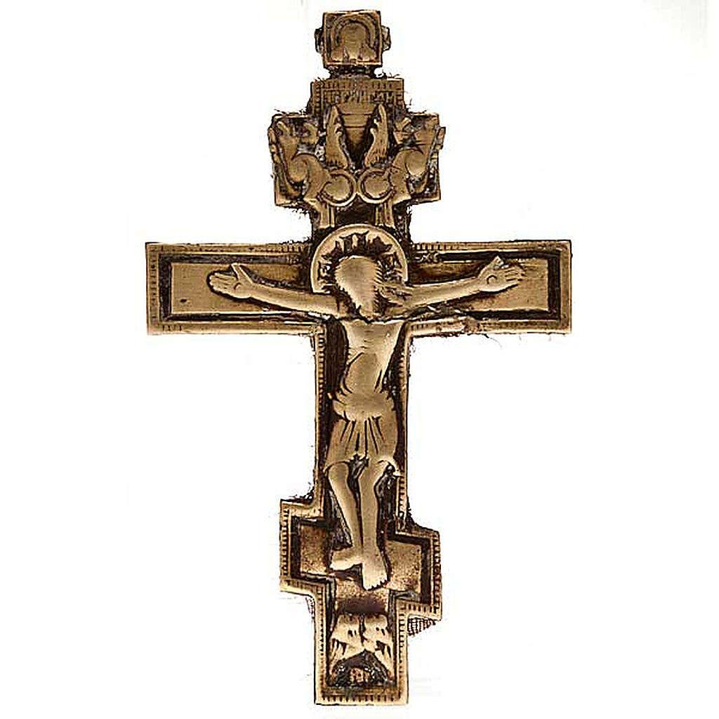Croce ortodossa Bronzo antico '700 Russia 4