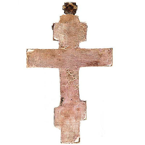 Croce ortodossa Bronzo antico '700 Russia 2