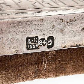 Icona antica russa Pantocratore riza argento con punzone s6