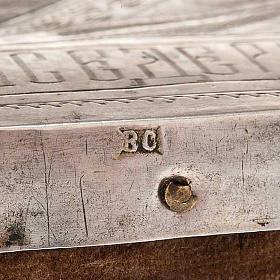 Icona antica russa Pantocratore riza argento con punzone s7